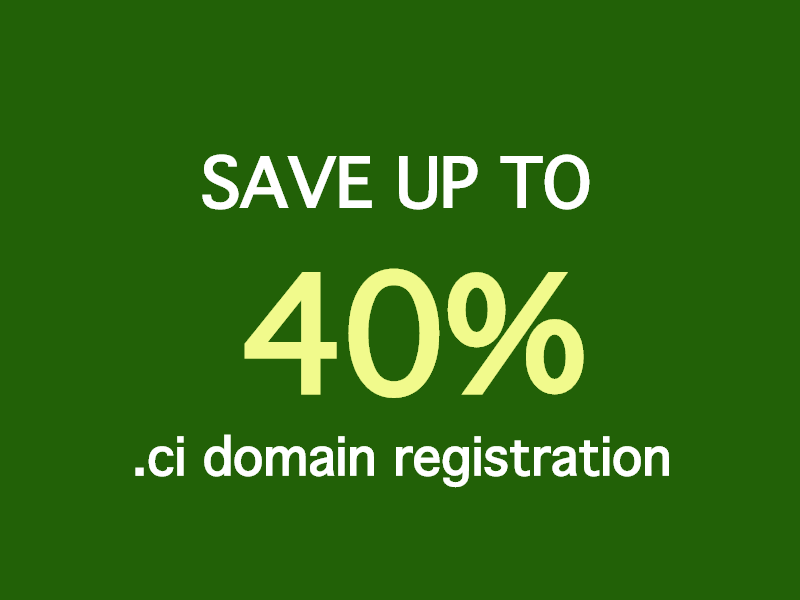 ci domain name registration / renewal save up to 40%