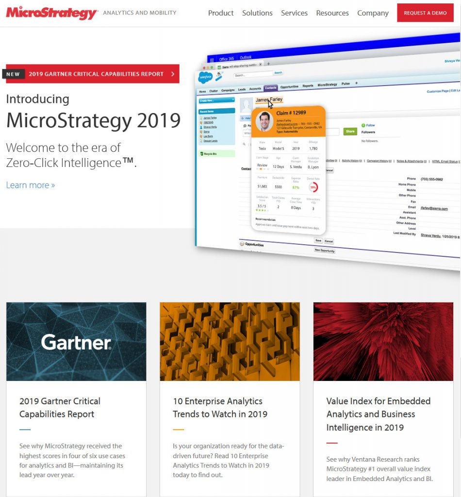 domain sale made by MicroStrategy