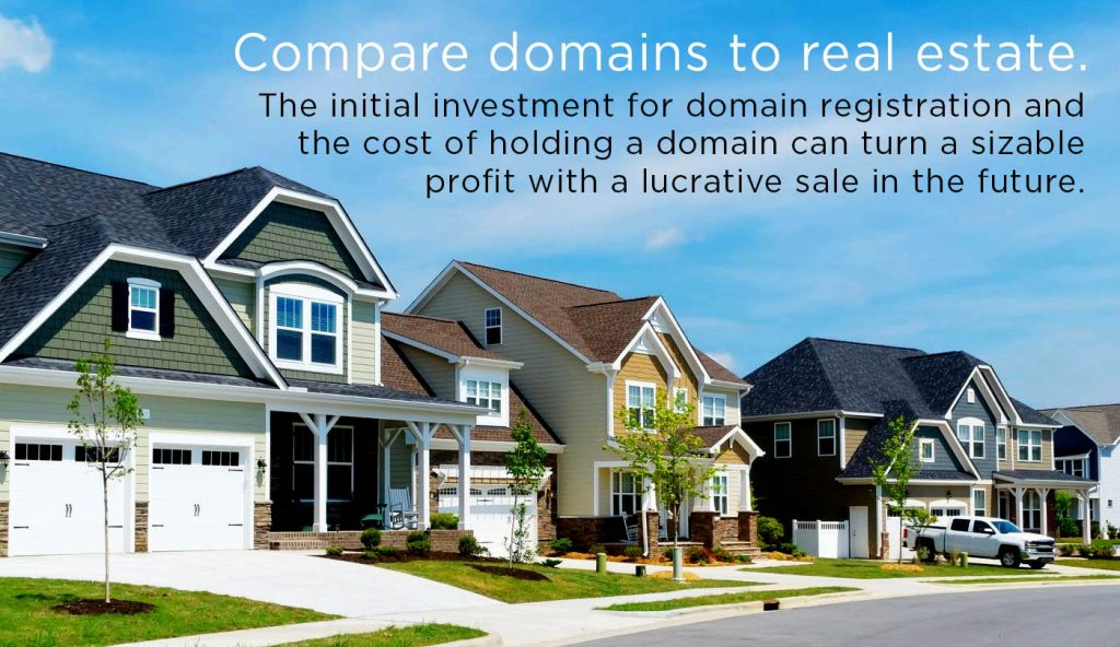 premium domain is a chance for making a profit much larger than any real estate investment can provide